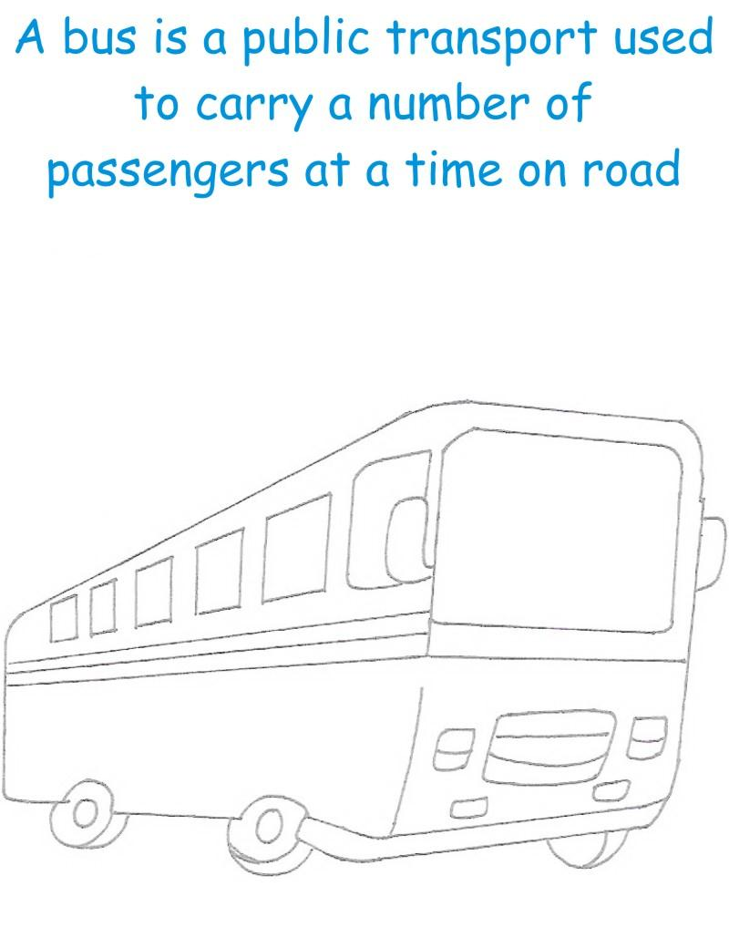 Bus printable coloring page for kids