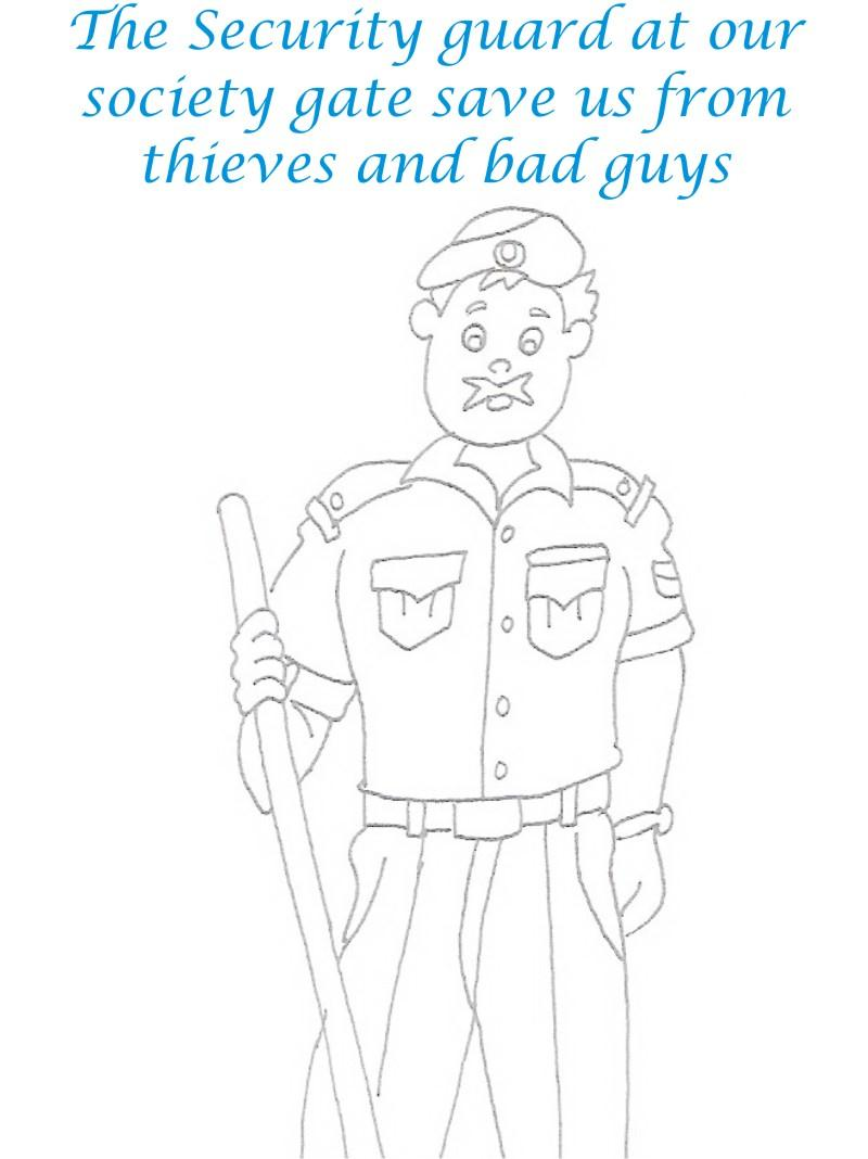 Color Guard Coloring Pages Security Guard Printable