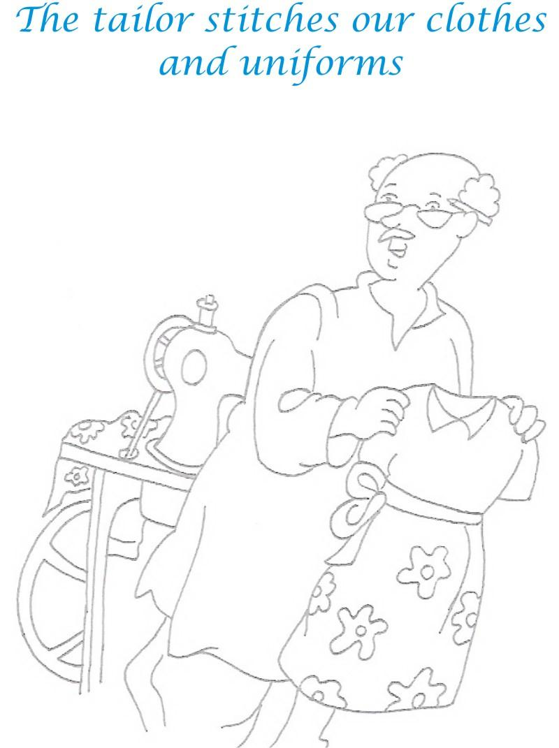 Tailor printable coloring page for kids