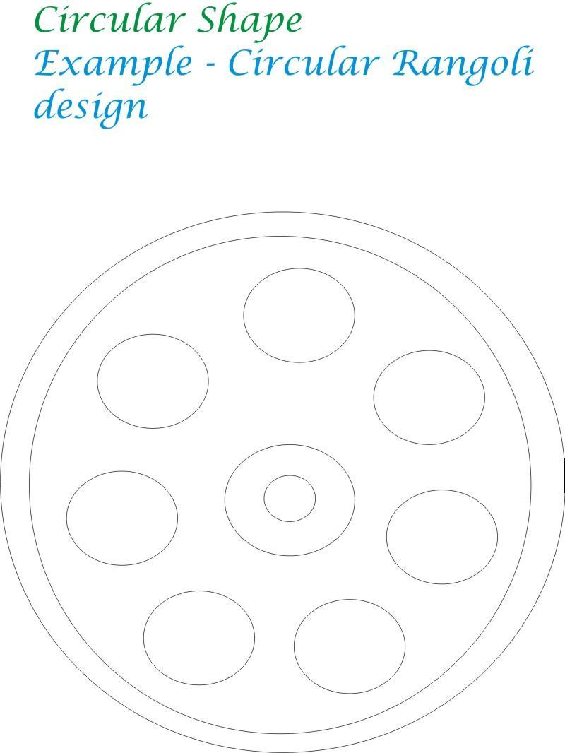 Circular shape coloring printable page for kids