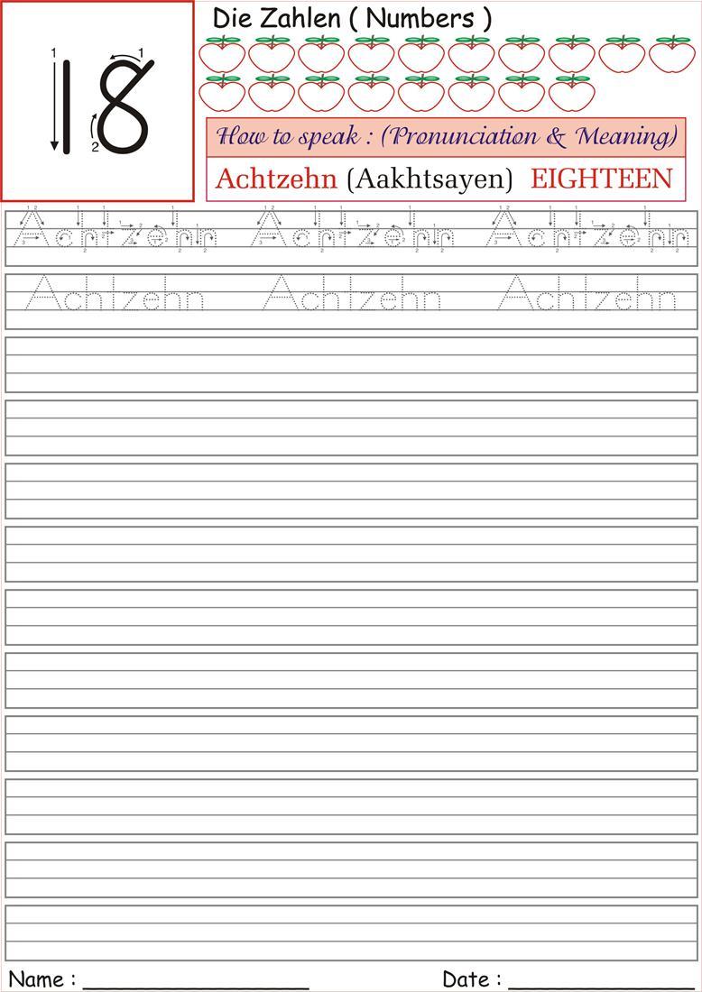 Number Writing Practice Worksheets – Practice Writing Numbers Worksheets