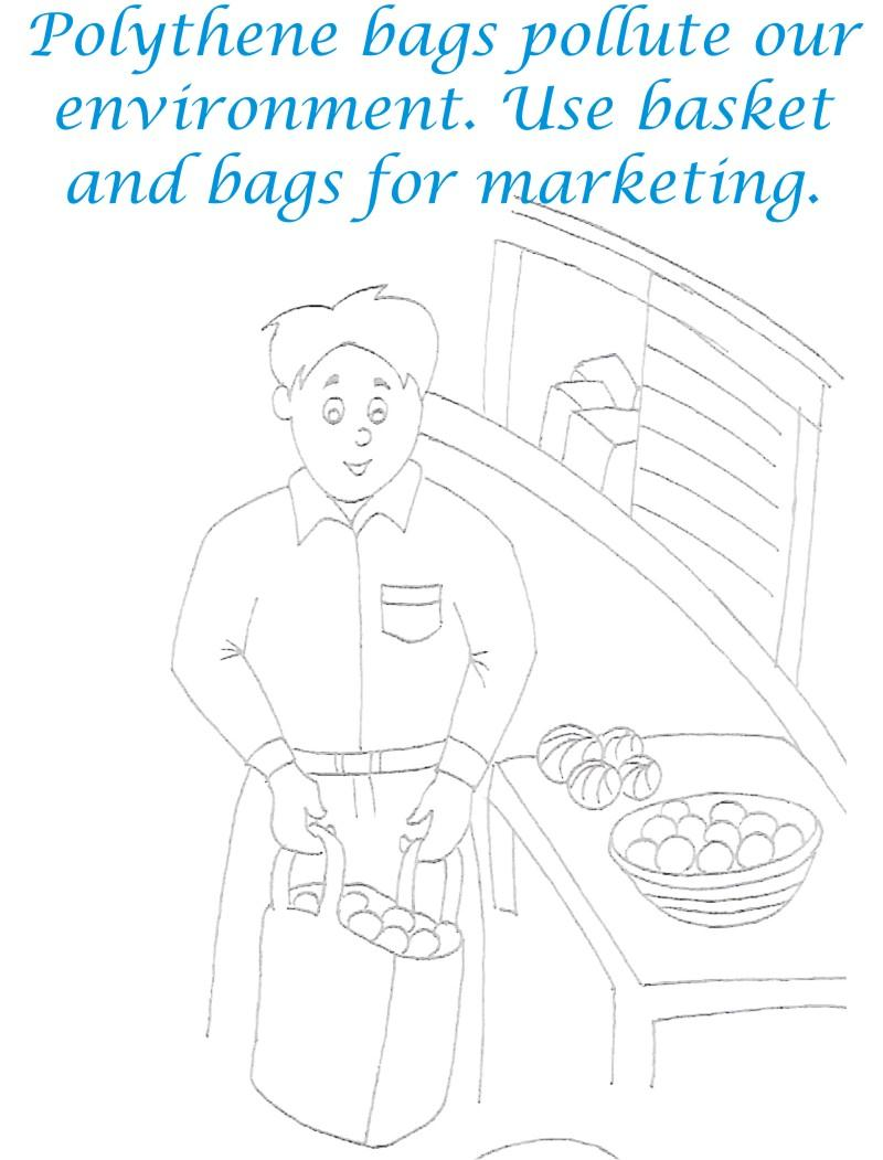 Avoid Polythene Bags Coloring Page