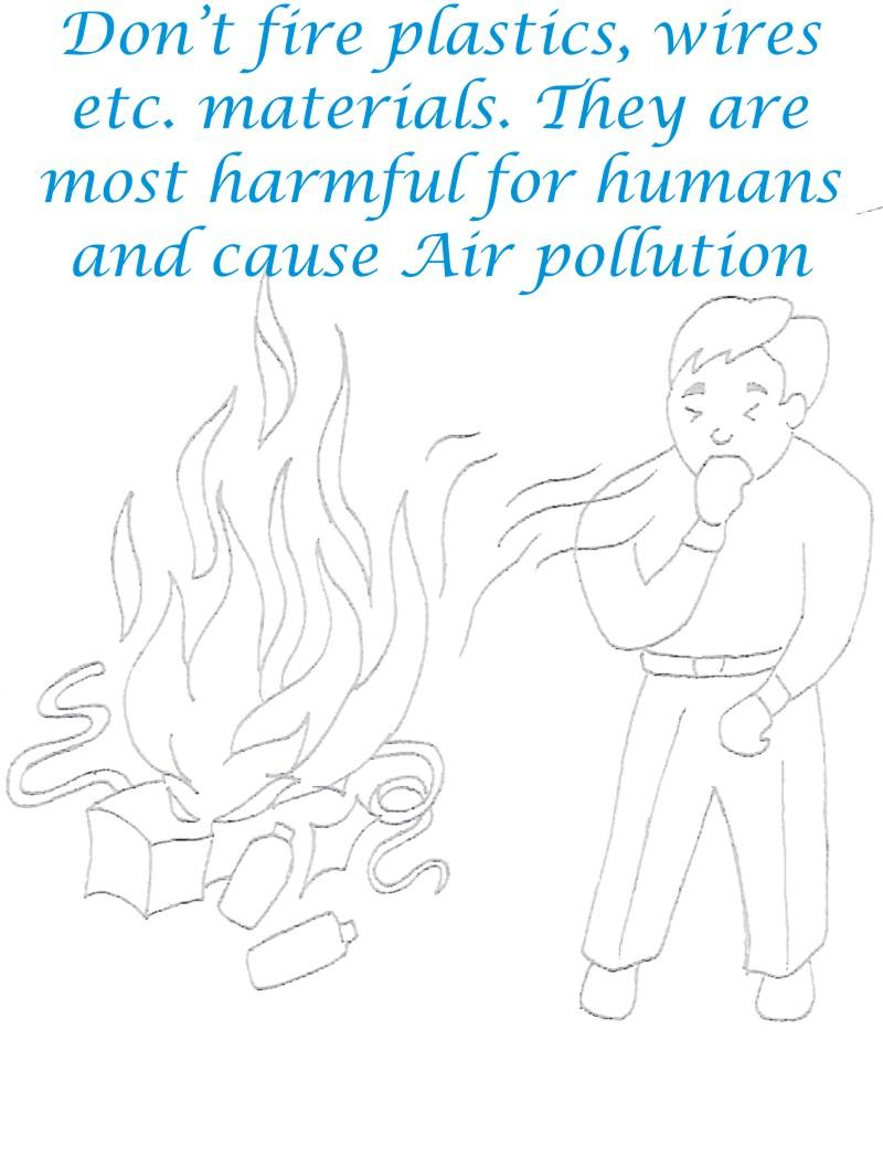 Dont Fire it makes Air Pollution Coloring Page