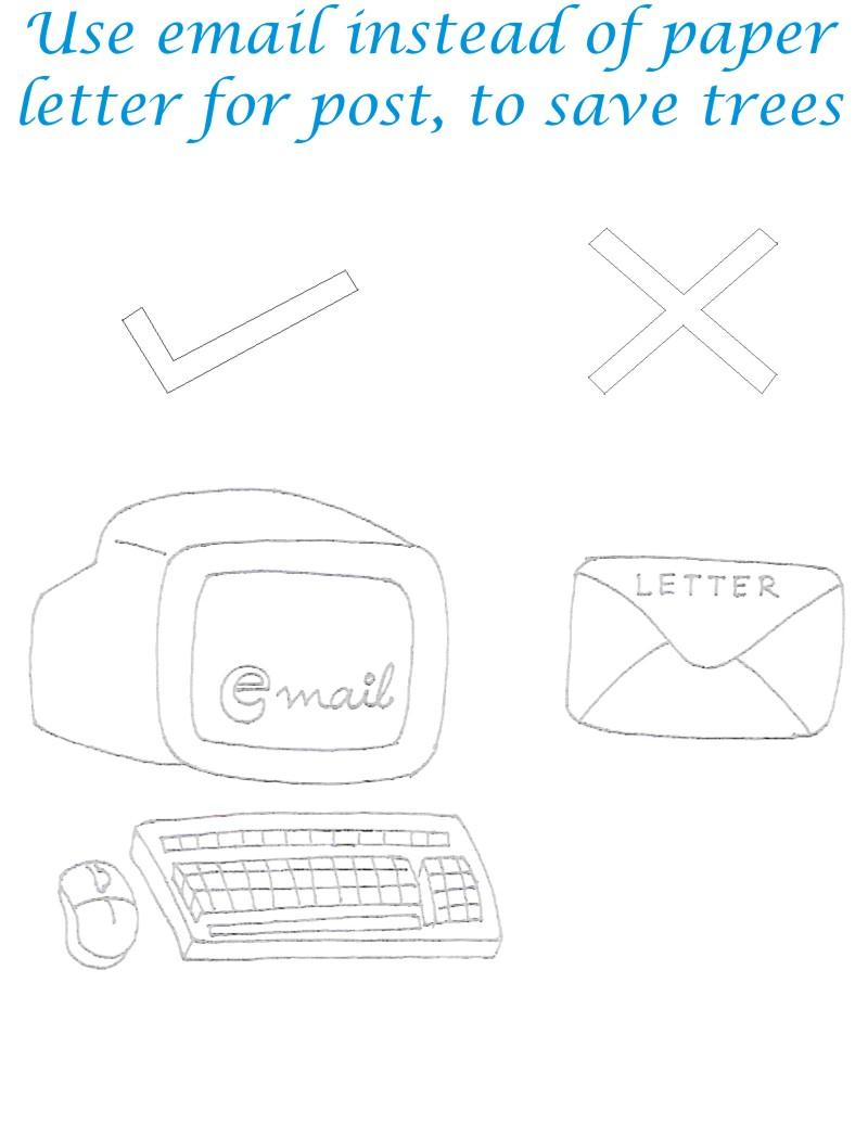 Use Email Save Environment Coloring Page