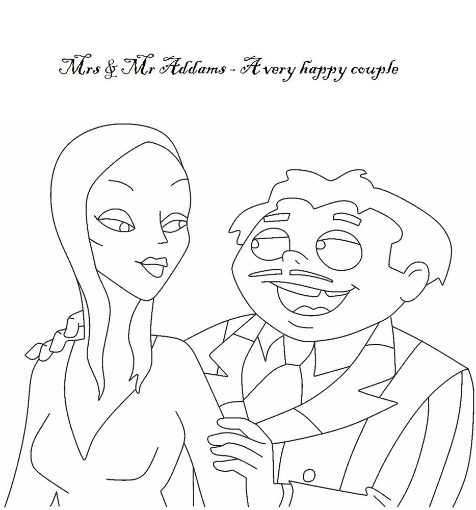 Addams Family Coloring Pages Coloring Pages
