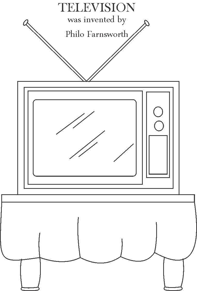 appliances television coloring pages - photo #22