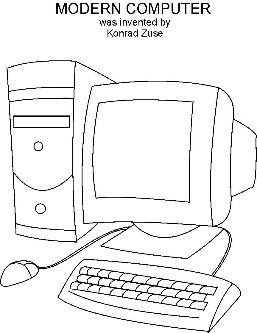 Computer Coloring Worksheets Coloring Pages