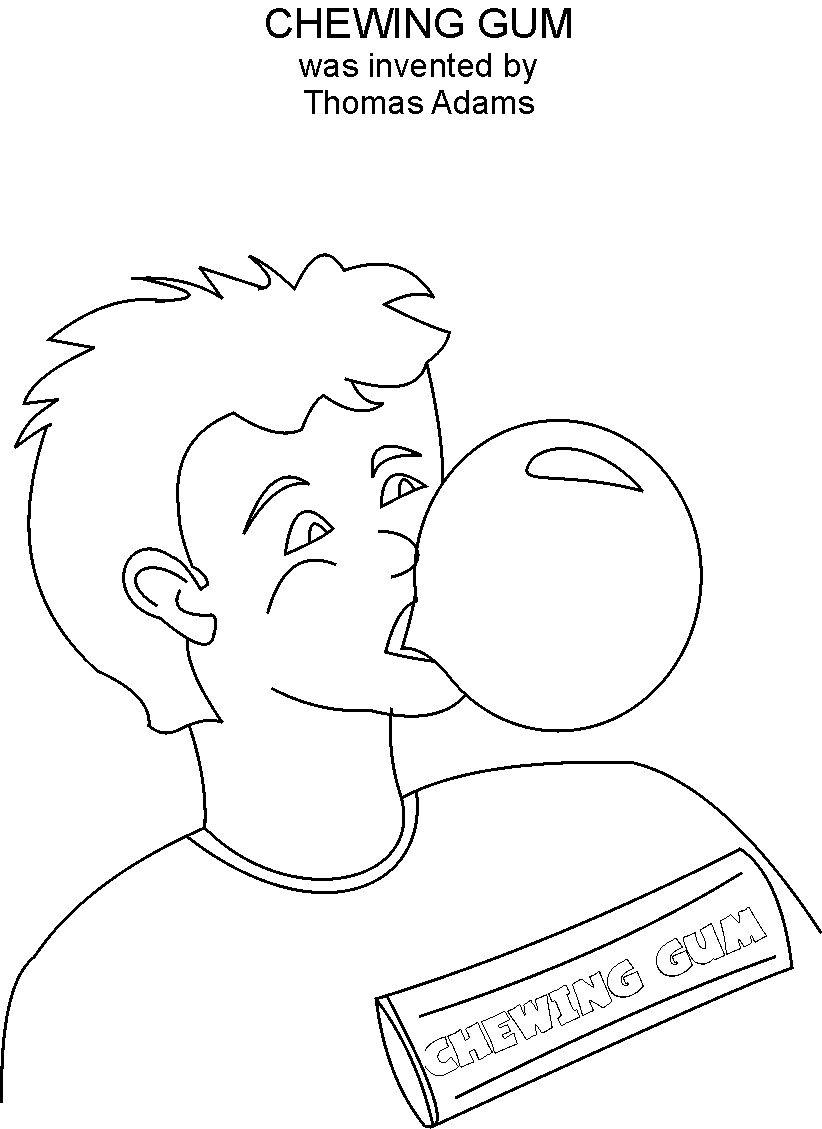 buble gum coloring pages - photo#12
