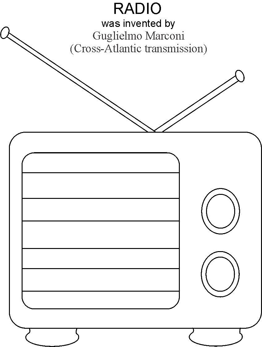 radio coloring printable page