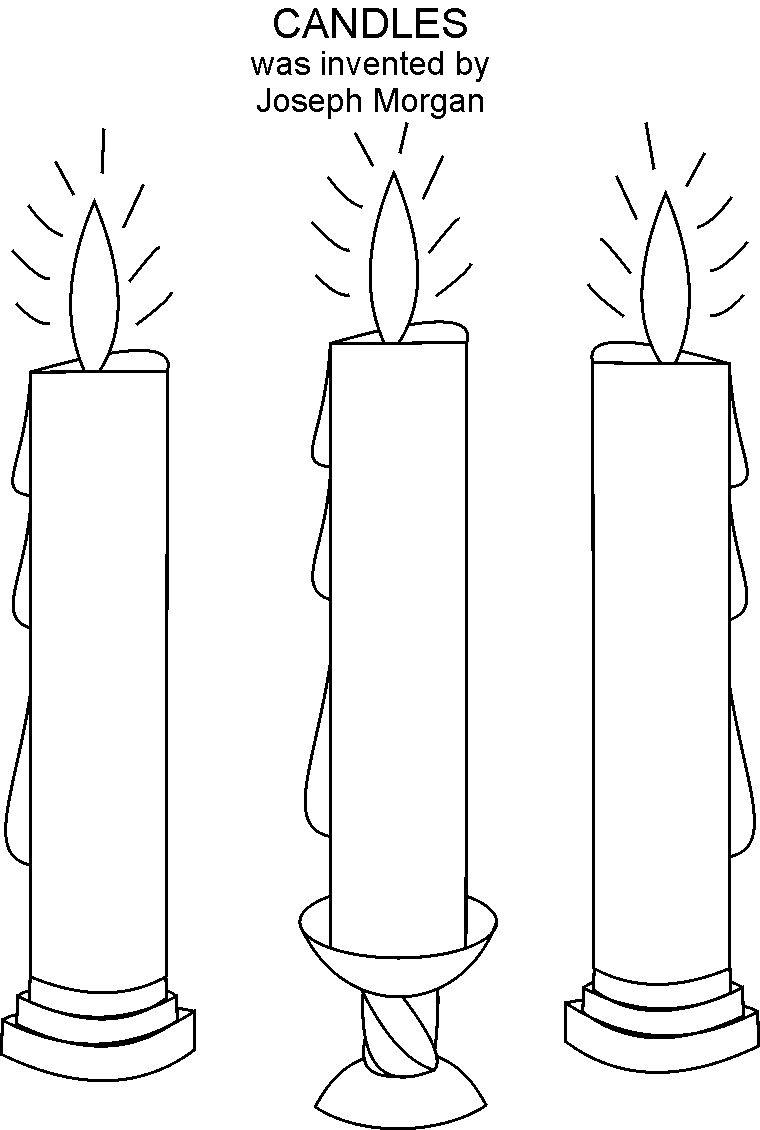 Candles coloring printable