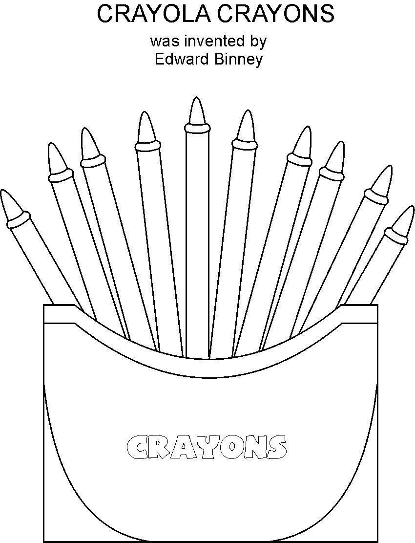 crayons coloring printable