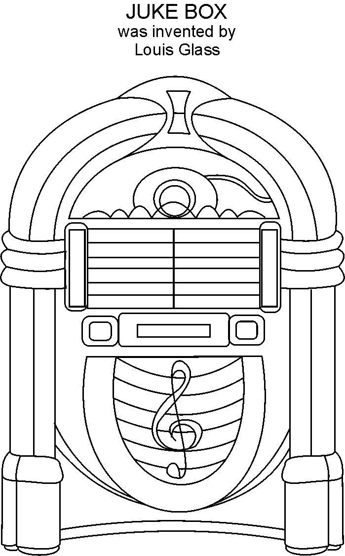 printable 50s coloring pages - photo#2