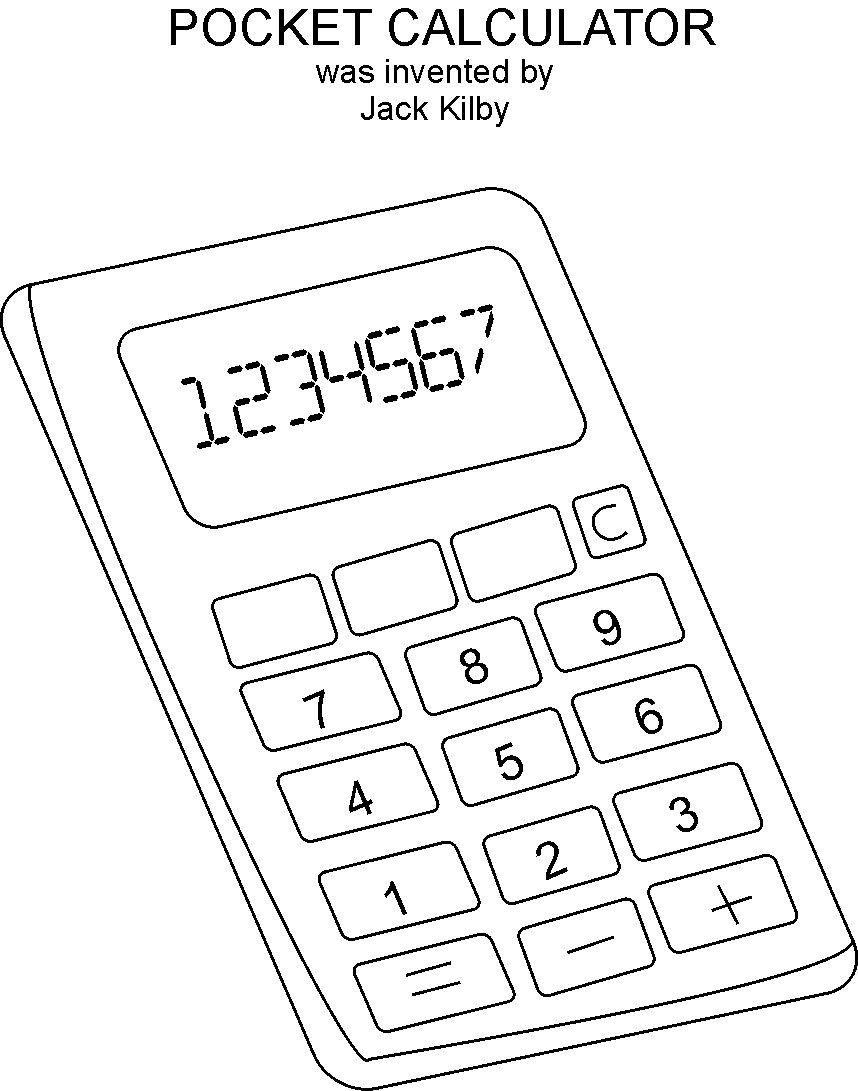 Calculator coloring printable page