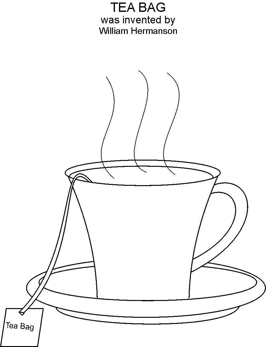 printable tea cup coloring pages - photo#31