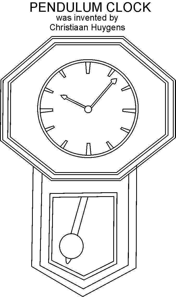 Clock Coloring Printable Page