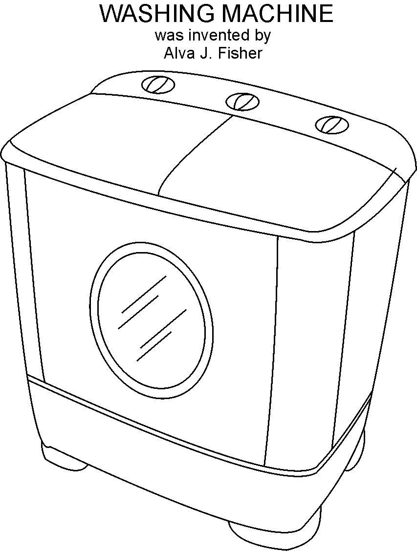 washing machine coloring page