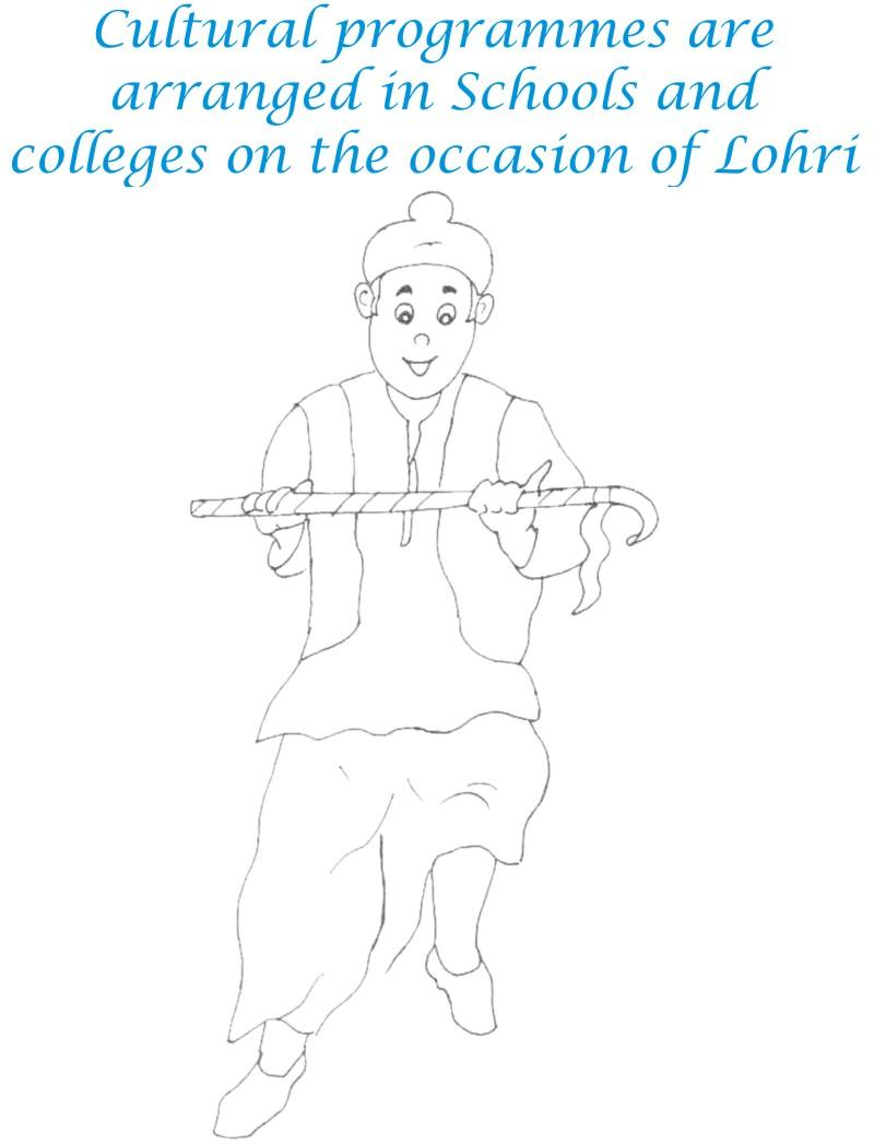 Lohri Cultural Programme Coloring  page for kids