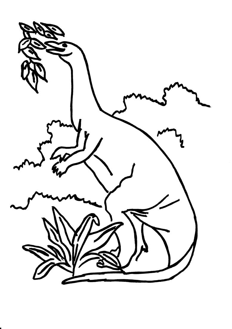 Dinosaur Coloring Pages Pdf : Dinosaur coloring printable page for kids