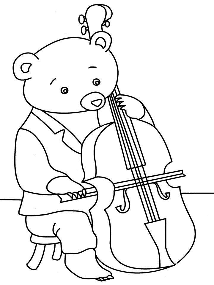 free cello coloring pages - photo#6