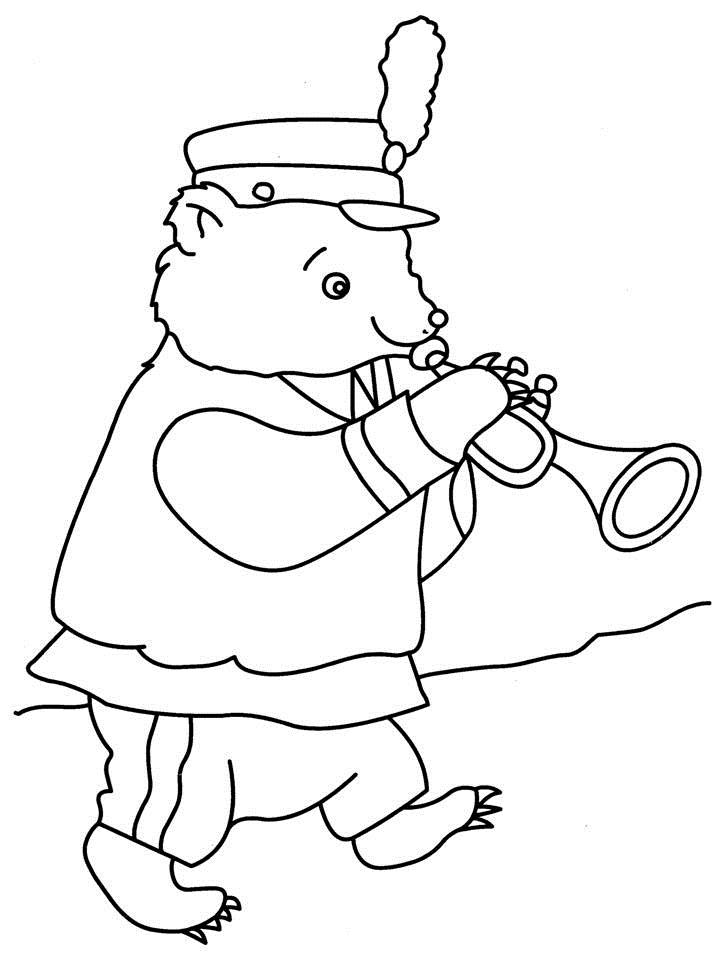 Free coloring pages of bass clarinet for Clarinet coloring page