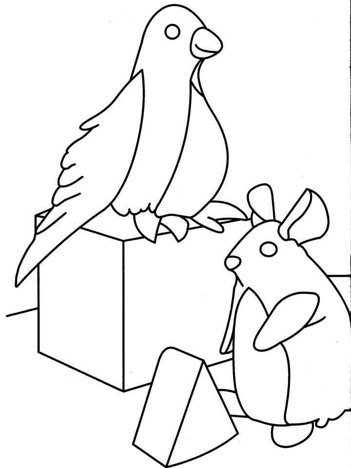 Bird playing coloring page for Idaho state bird coloring page