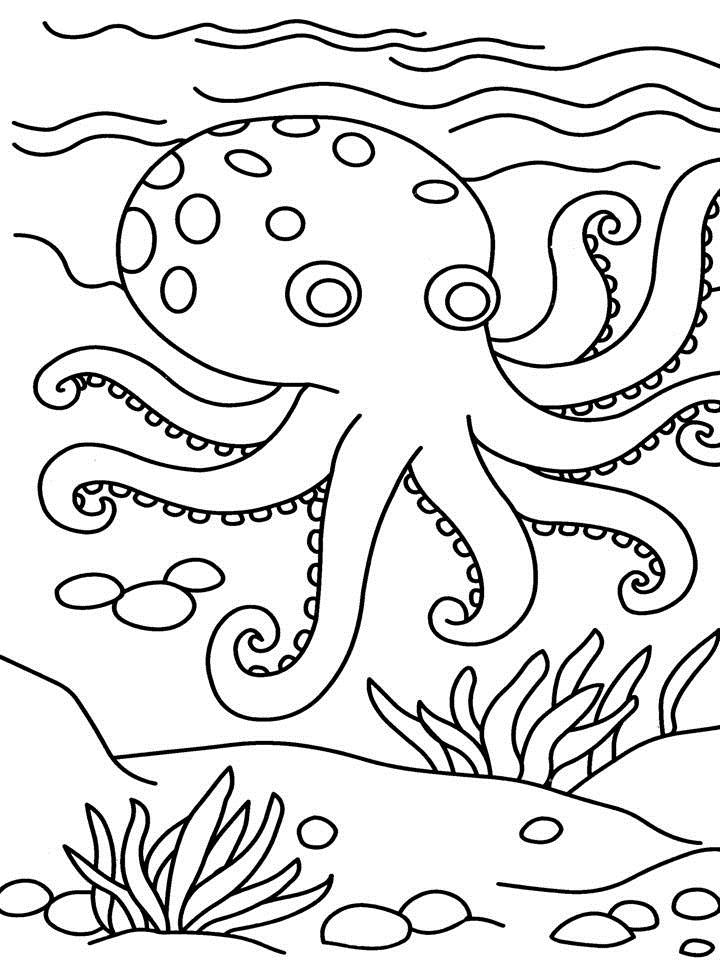 octopus coloring page for kids - Oswald Octopus Coloring Pages