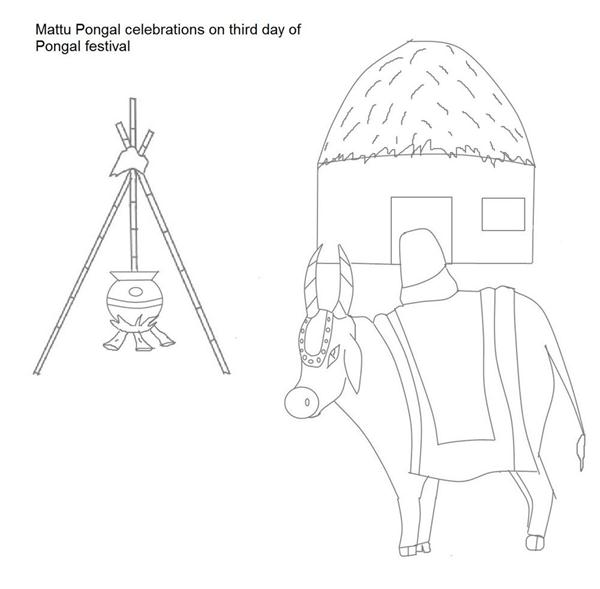 Free Coloring Pages Of Pongal Pongal Coloring Pages
