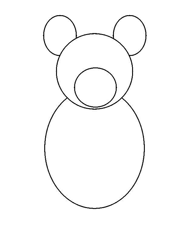 Draw a circle inside the head of teddy bear as shown in figure
