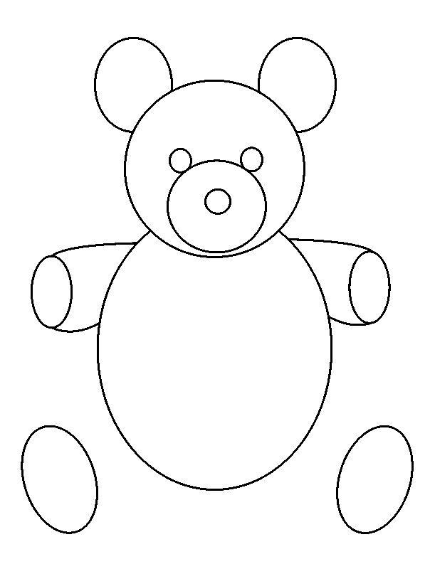 Drawing Using Lines And Shapes : How to draw a teddy bear in some simple steps