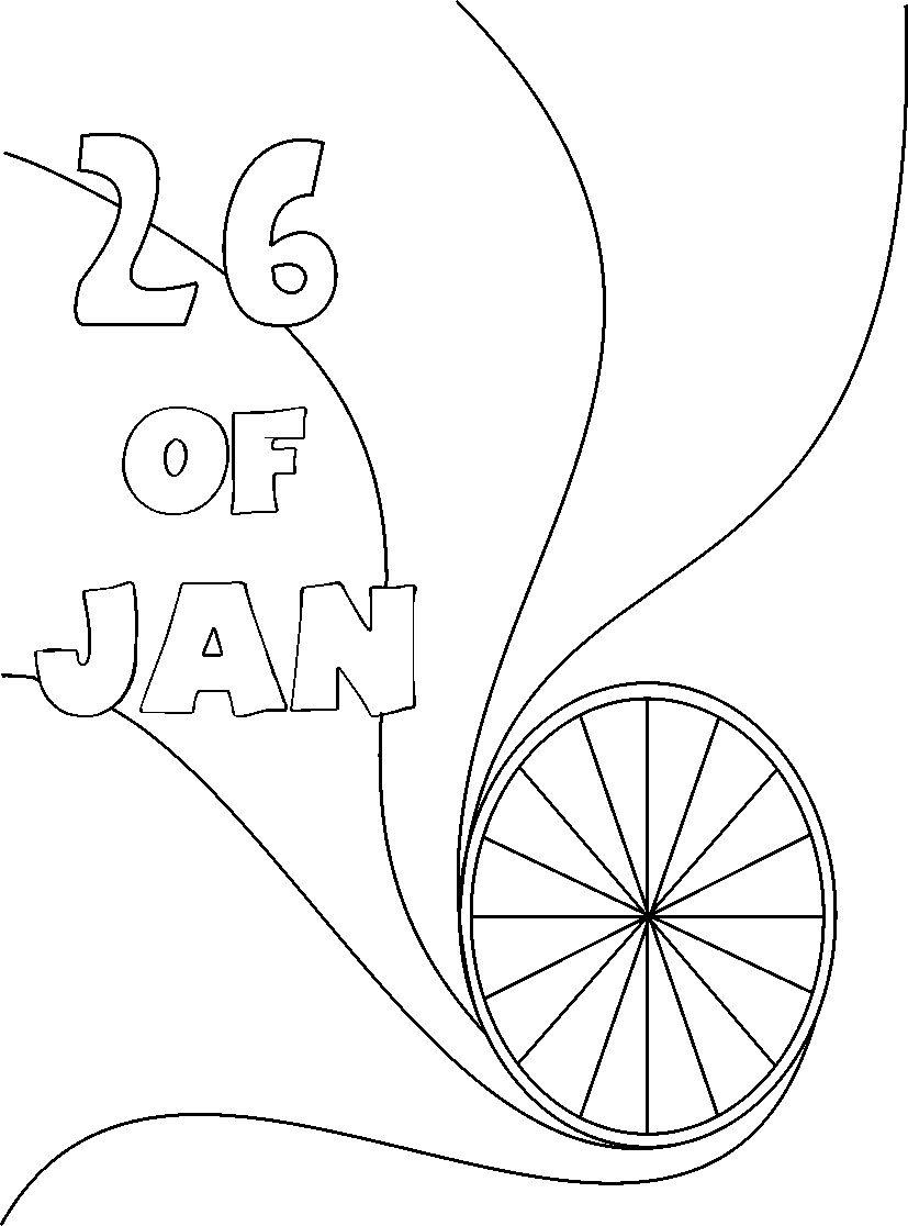 Republic day coloring page