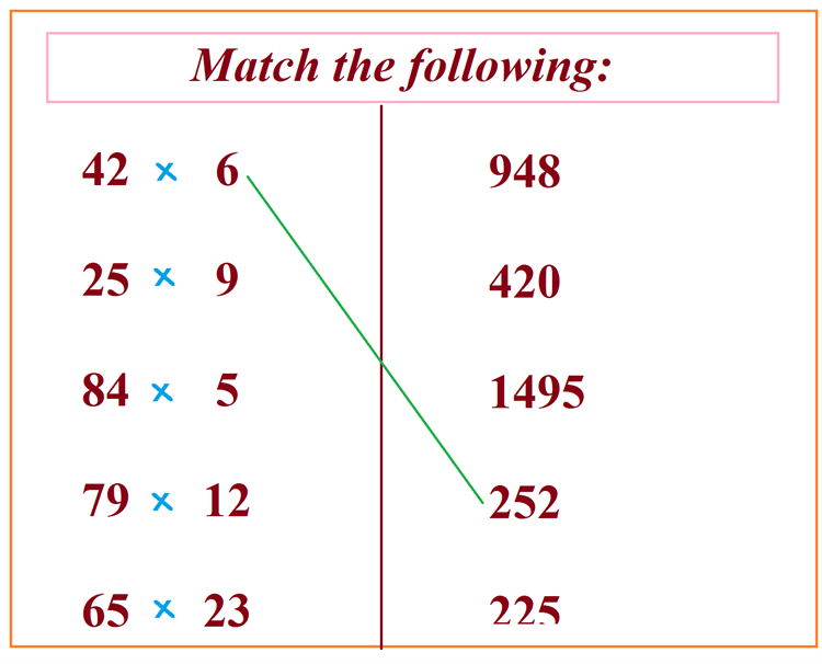 Maths worksheet for learning Multiplication 65