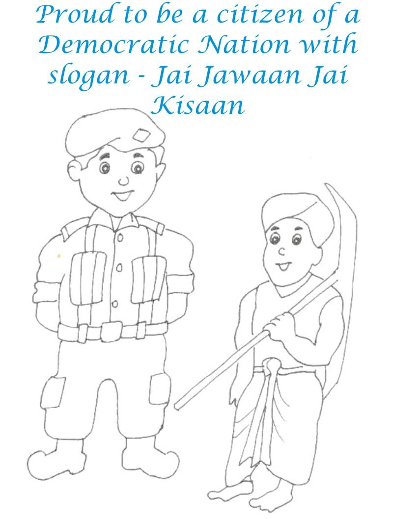 Jai Jawan Jai Kisan coloring page for kids
