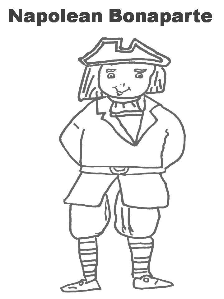 Napoleón Bonaparte Colouring Pages