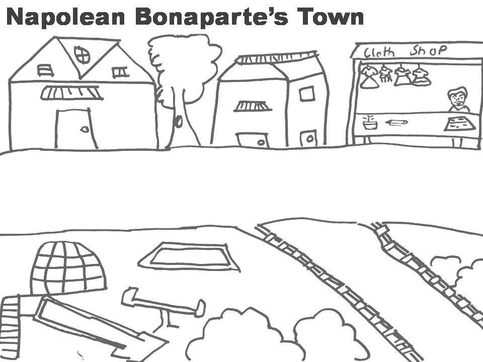 Napolean Bonaparte Town coloring page