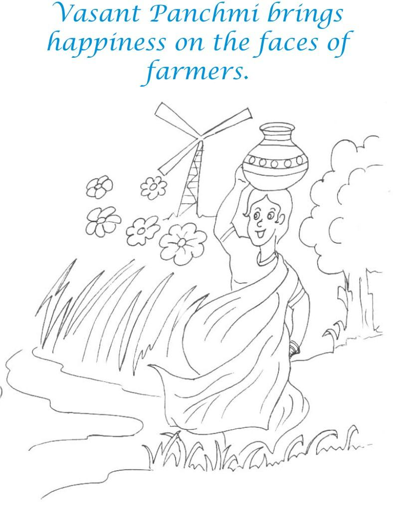 my village pictures coloring pages - photo#11
