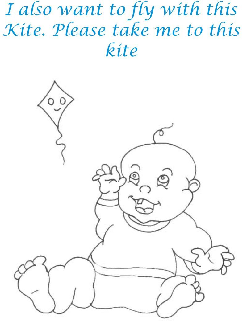 kid demands kite coloring page for kids
