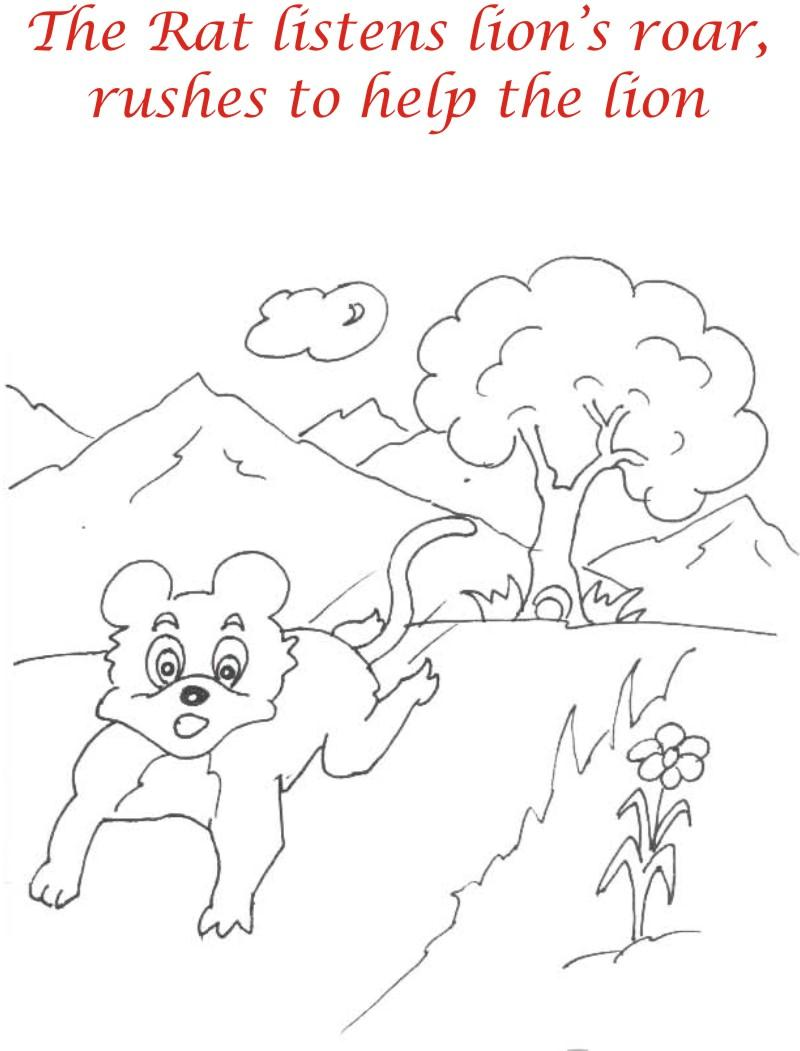 The running rat coloring page for kids