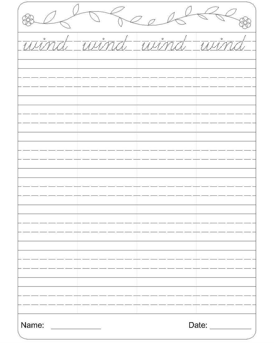 Cursive writing worksheet 23
