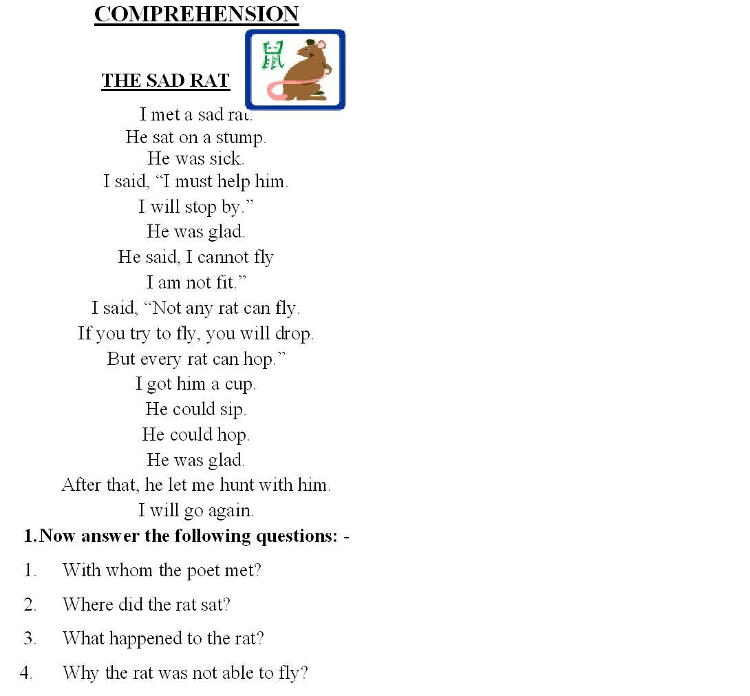 Worksheet 2 Grade Comprehension comprehension 2 2