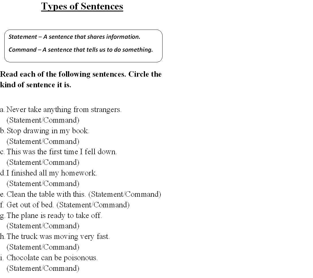 Worksheet Kinds Of Sentences Moreover Accounting Budget Worksheet ...
