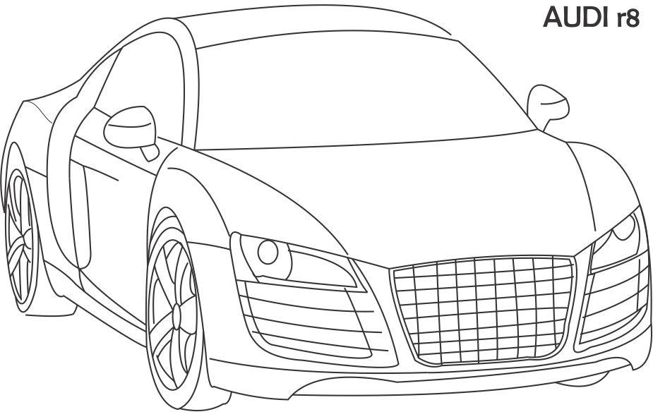 r8 coloring page for kids lexus coloring pages