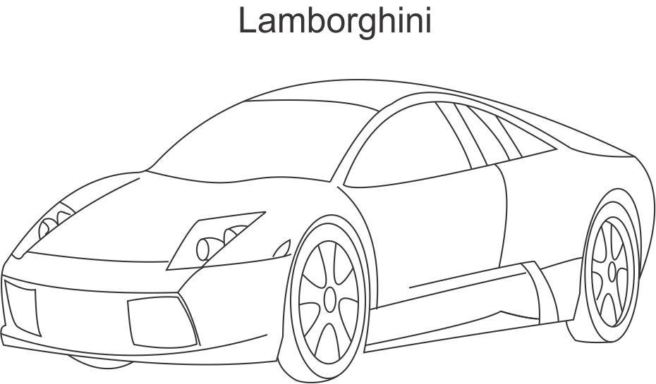 Coloring Page Super Car Nissan For Kids Cars Pages thumb