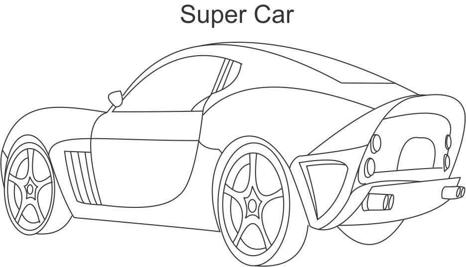 Super Car 3 Coloring Printable Page For Kids