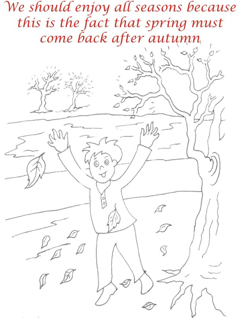 Autumn Season coloring printable page4 for kids