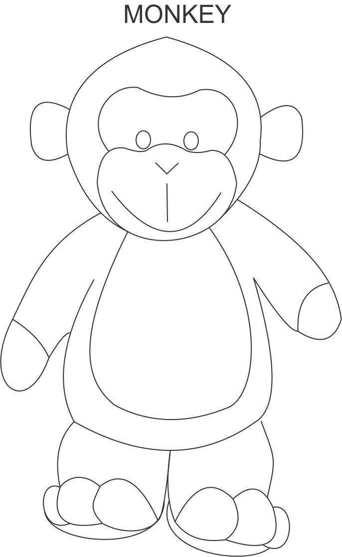Monkey Coloring Pages Pdf : Monkey coloring page for kids