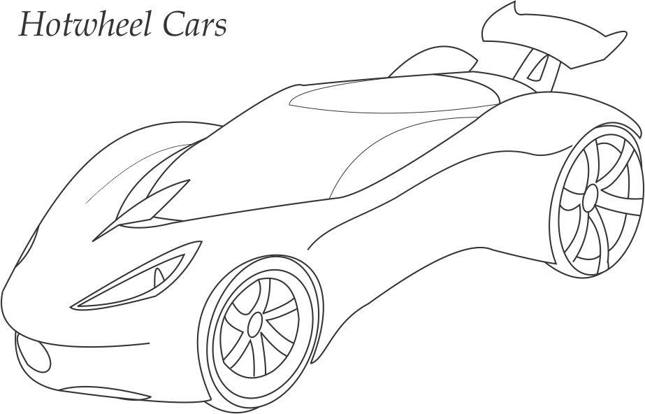 Hotwheels car coloring printable page for kids