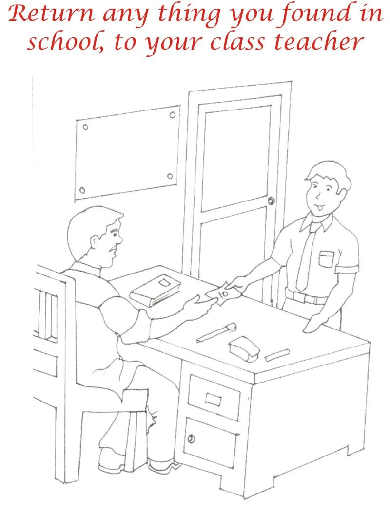 kids table manners coloring pages - photo#38