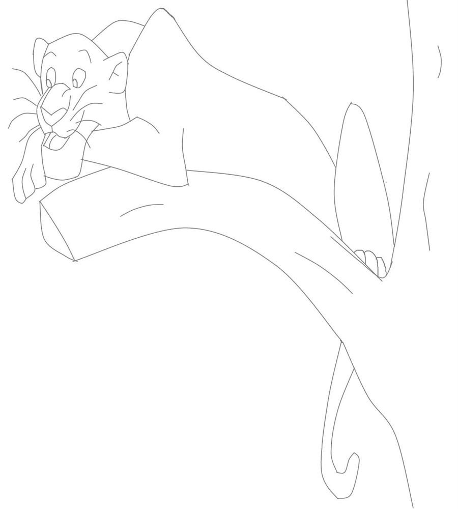 bagheera coloring printable page for kids