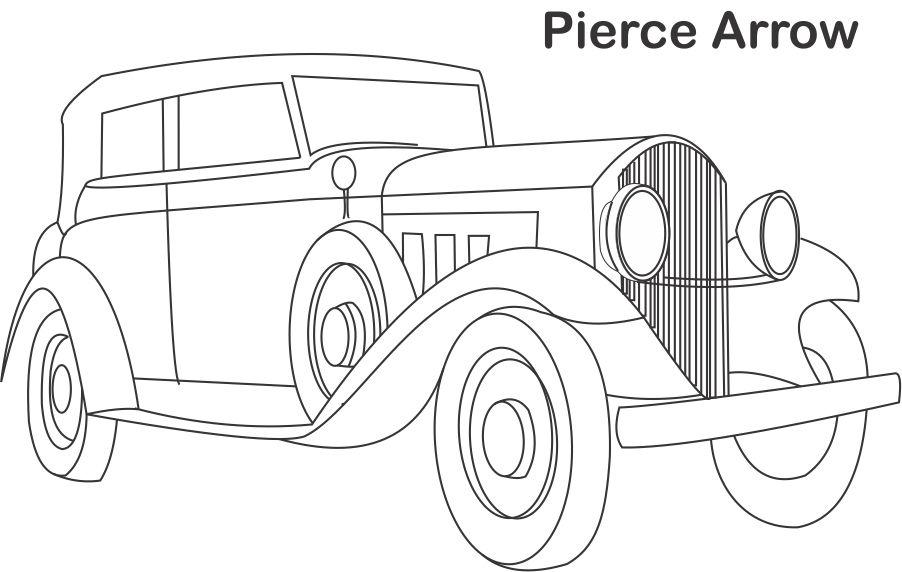 Pierce Arrow car coloring page for kids