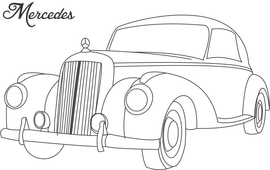 Printable Muscle Car Coloring Page Colouring Sheet